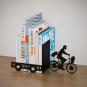 Buchstütze »Postbote auf dem Fahrrad«. Bild 1