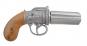 Engl. Pistole , Pepperbox silber Bild 1