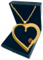 Herz-Anhänger - Silber, vergoldet mit Kette Bild 1