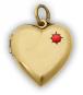 Medaillon Herz mit Koralle Bild 1