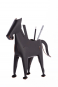 Stift- und Zettelhalter Pferd, schwarz. Bild 1