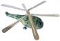 Helicopter grün aus Blech. Bild 2