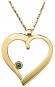 Herz-Anhänger - Silber, vergoldet mit Kette Bild 2