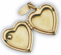 Medaillon Herz mit Koralle Bild 2