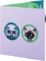 Pop-up-Grußkarte »Zwei Katzen am Näpfchen«. Bild 2