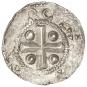 Silbermünze Otto III. - Silberdenar aus Speyer Bild 2