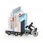 Buchstütze »Postbote auf dem Fahrrad«. Bild 3