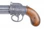 Engl. Pistole , Pepperbox silber Bild 3