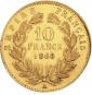 Goldmünze 10 FF mit Kranz Napoleon. Bild 3