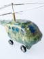 Helicopter grün aus Blech. Bild 3