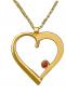 Herz-Anhänger - Silber, vergoldet mit Kette Bild 3