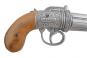 Engl. Pistole , Pepperbox silber Bild 4